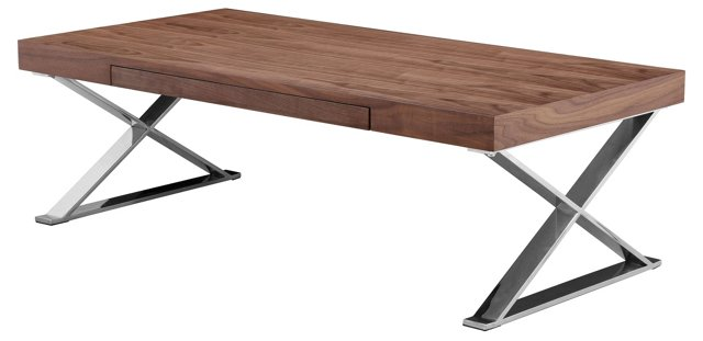 "Carlson 48"" Coffee Table, Walnut"