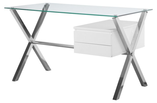 Small Beverly Desk, White