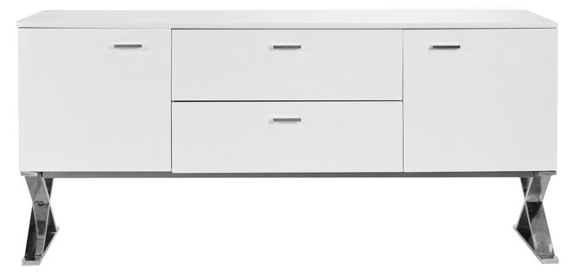 X-Leg Buffet Table, White
