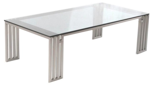 Founder Glass Coffee Table, Chrome