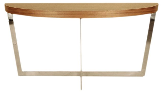 Kendall Demilune Console, Walnut
