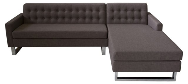 Sloan Right-Arm Sectional, Cocoa