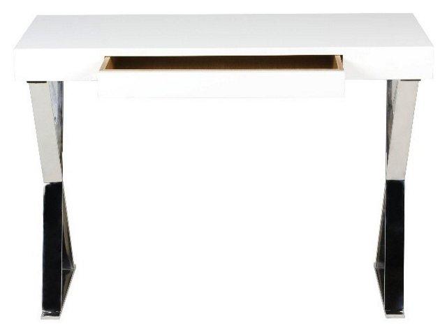 Sorley X-Leg Console, White
