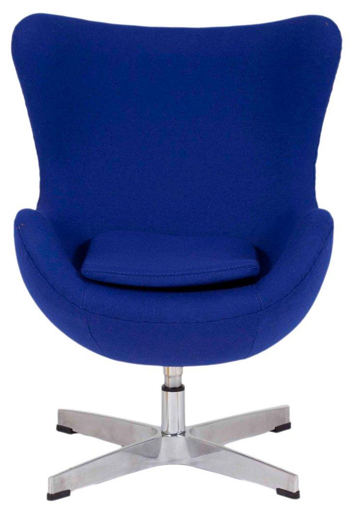 Jetson Kid's Swivel Chair, Blue