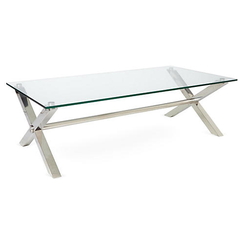 Beverly Coffee Table, Silver
