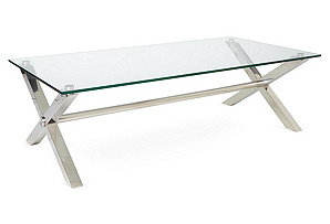 Beverly Coffee Table, Silver*