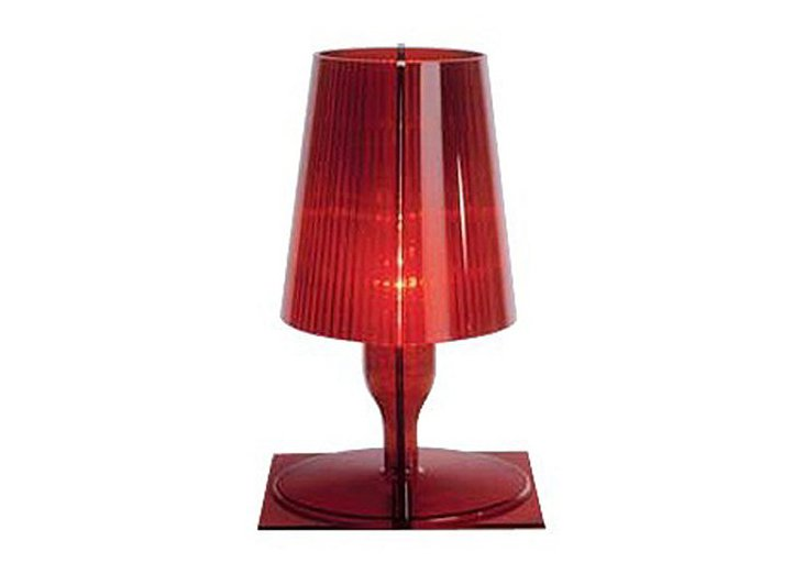 Kallie Table Lamp, Red