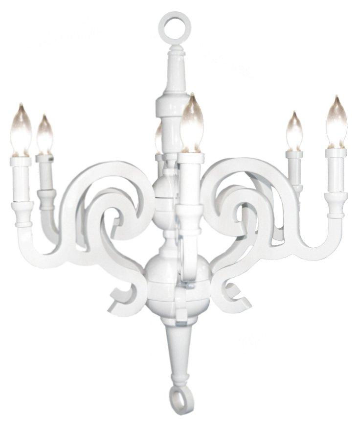 Kristina 6-Light Chandelier, White