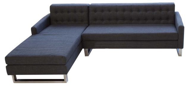 Sloan Left-Arm Sectional, Charcoal
