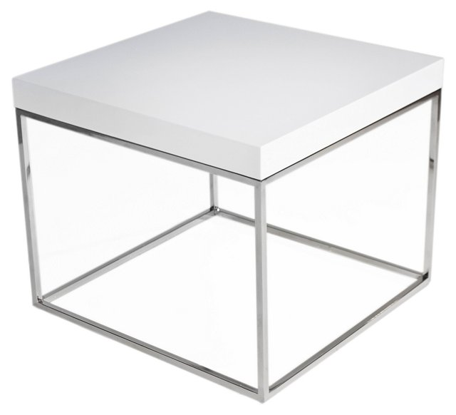 Fred Side Table, White