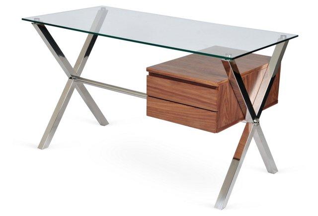 Small Beverly Desk, Walnut