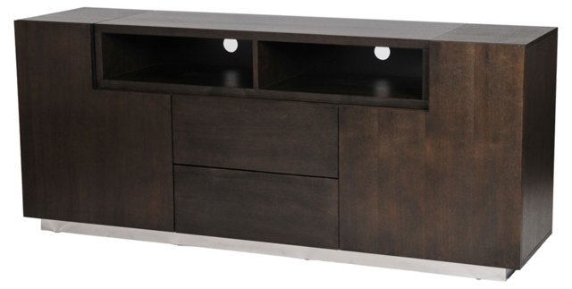 Trix 2-Door Media Unit, Espresso