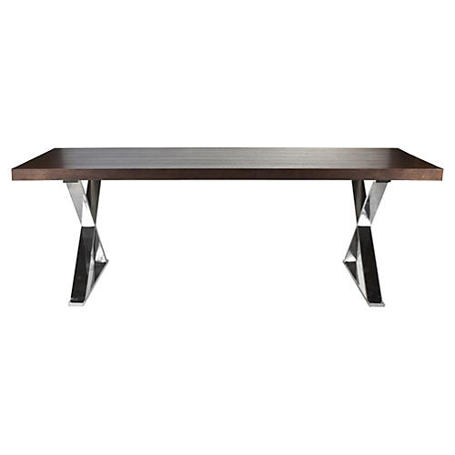 "X-Leg 87"" Dining Table, Espresso"