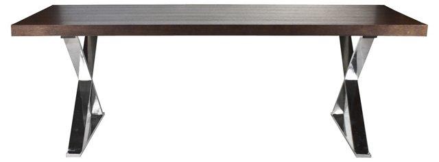"X-Leg 87"" Dining Table, Espresso"