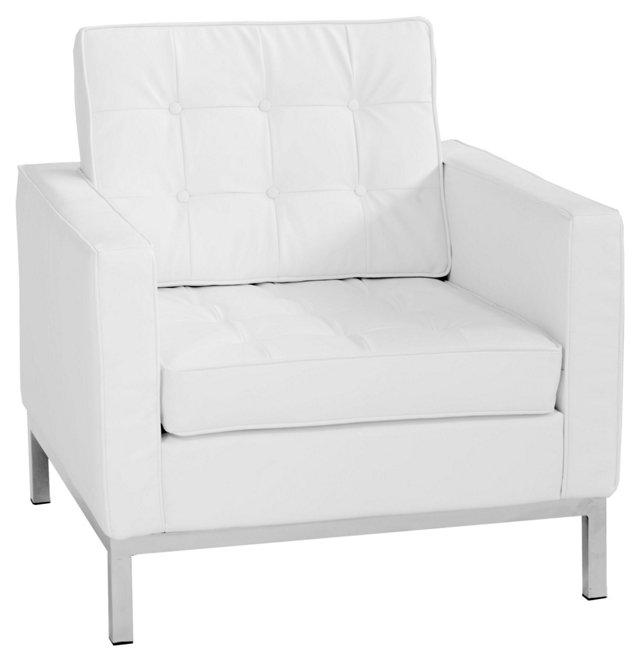 Florence Sofa Chair, White