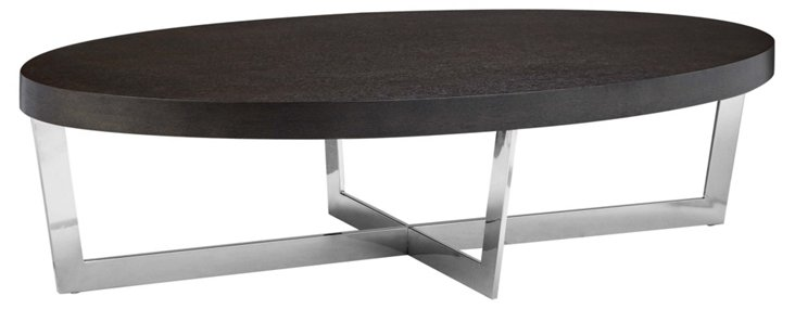 Oyster Coffee Table, Espresso