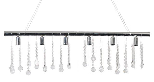 Yvonne 6-Light Linear Fixture, Silver
