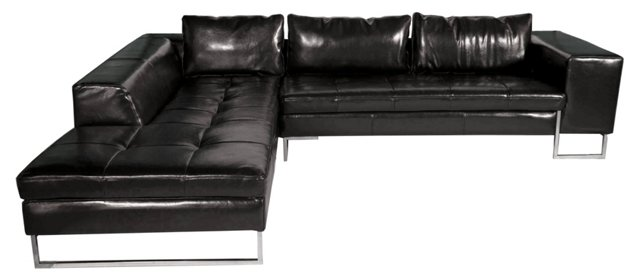 *U London Sectional, Glossy Black