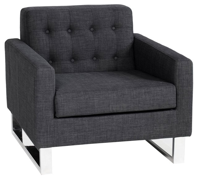 Sloan Sofa Chair, Charcoal