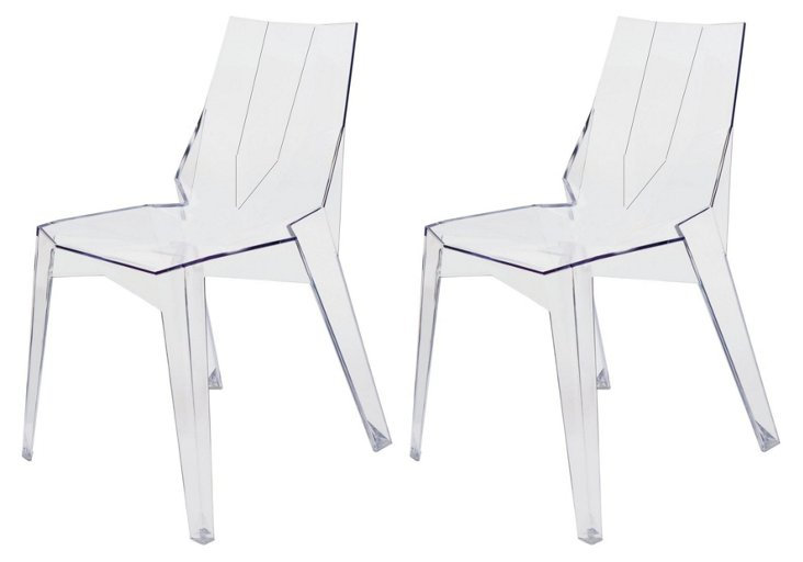 Clear Arrow Dining Chair, Set of 4