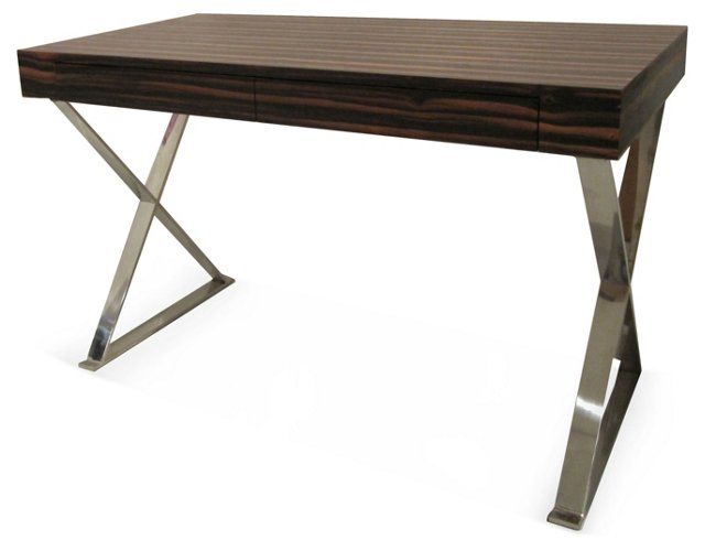 DNU, Dis Alba X-Leg Desk, Dark Zebrano