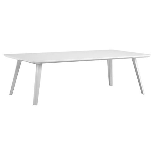 Hal Modern Coffee Table, White Lacquer