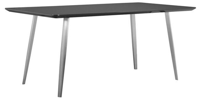 "Hal 71"" Dining Table, Gray Lacquer"