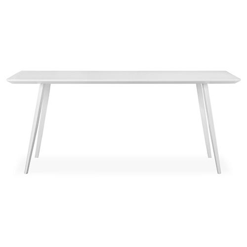 """Hal 71"""" Dining Table, White"""