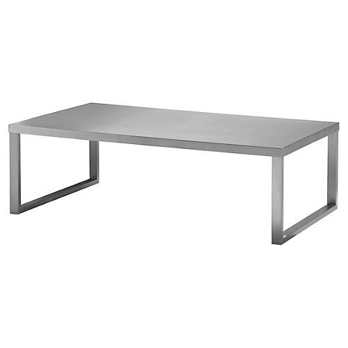 Clark Coffee Table, Silver
