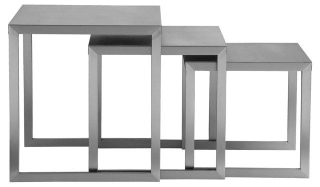 Clark Nesting Tables, Silver