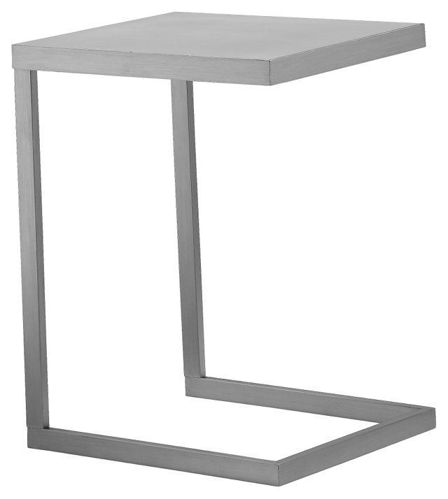 Clark Side Table, Silver