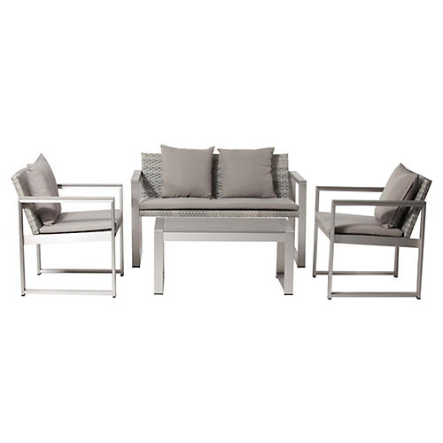 Chester Lounge Set, Gray