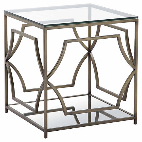 Edward Side Table, Brass