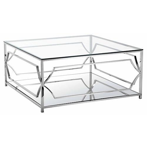 Edward Coffee Table, Silver