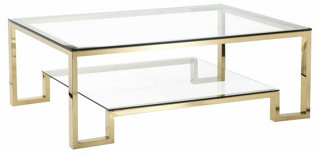 Laurence Coffee Table, Gold