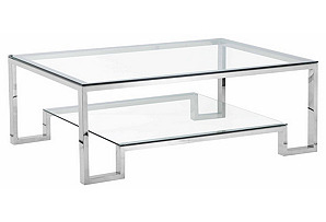 Laurence Coffee Table, Silver*