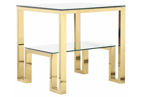 Laurence Side Table, Gold