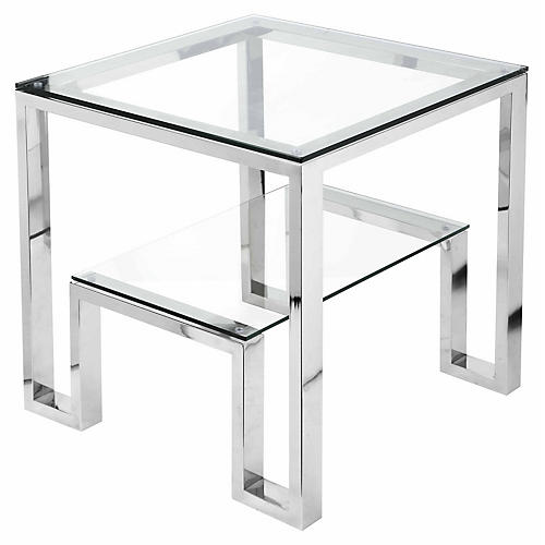 Laurence Side Table, Silver