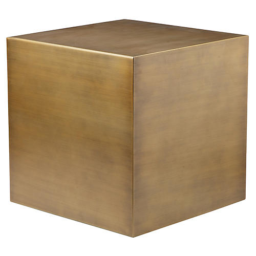 Spencer Large Side Table, Brushed Brass