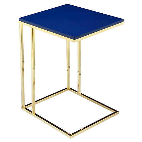 Fred Tray Table, Blue/Gold