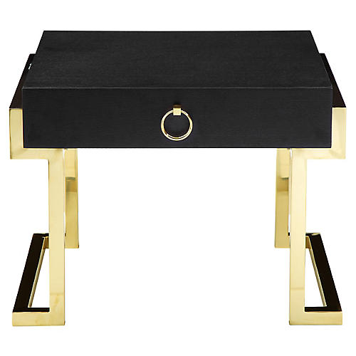 Julia Nightstand, Black/Gold