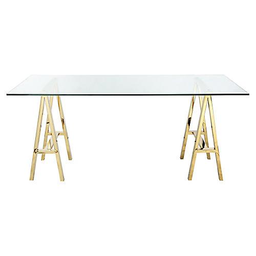 Brady Desk, Polished Gold