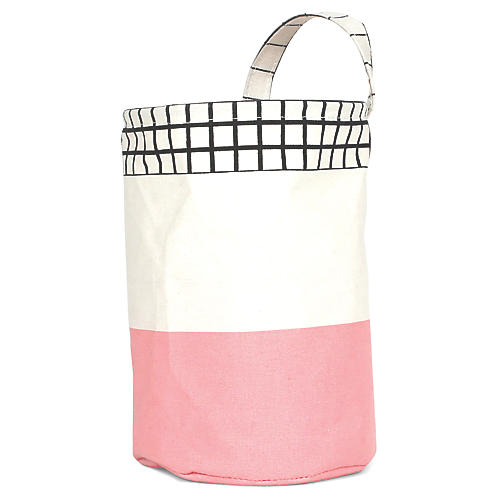 Olé Round Kids' Storage Basket, Pink