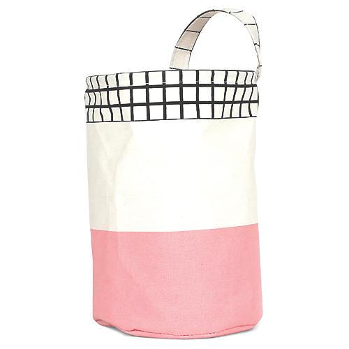 Olé Round Kids' Storage Basket, Pink