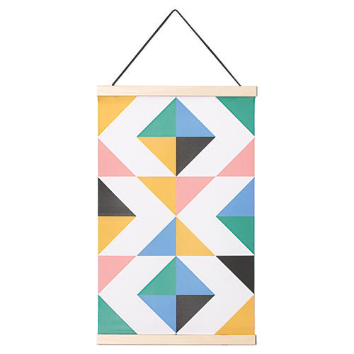 Triangle Kids' Hanging Textile, Multi