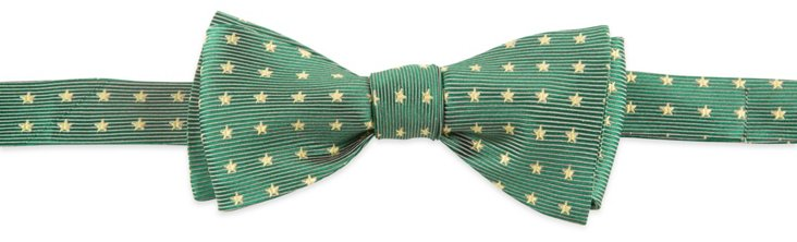 Stars Bow Tie, Forest Green