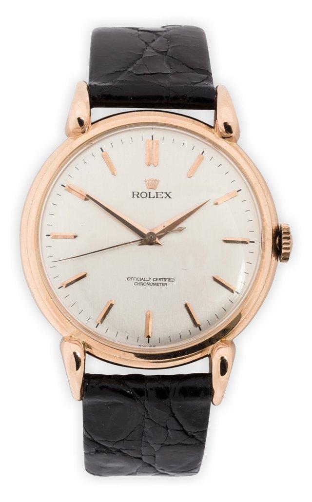 1940s Rolex Rose Gold Dress Watch