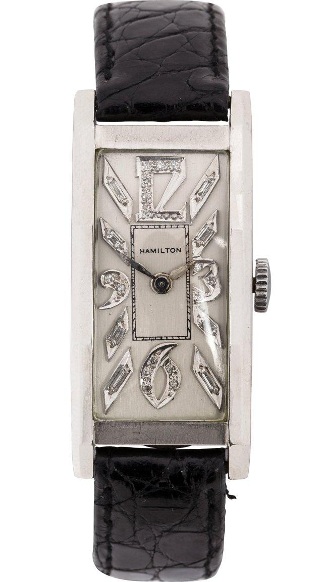 1930s Hamilton Platinum Tuxedo Watch