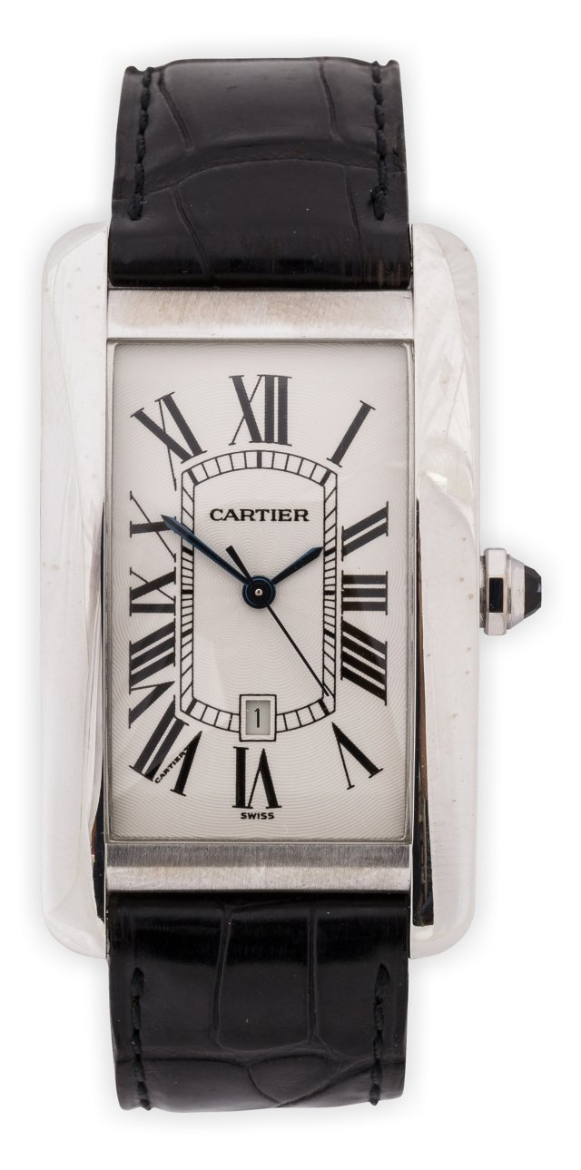 18K White Gold Cartier Tank USA