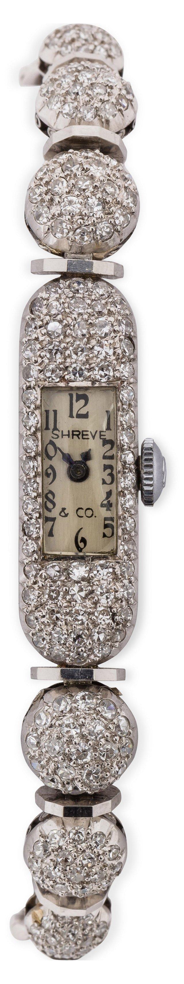 1920s Platinum Shreve & Co. Ladies'